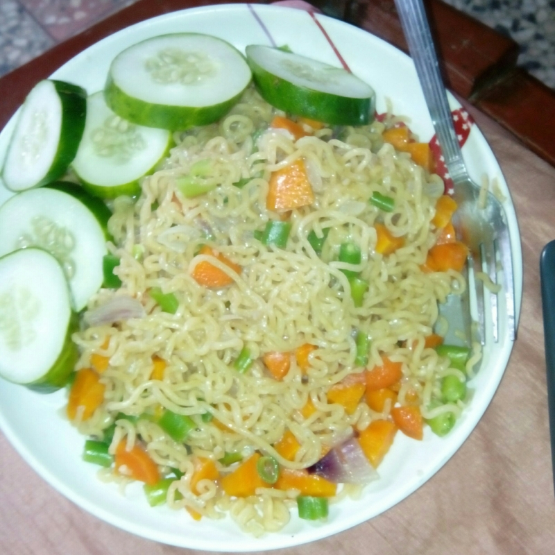 Unconventional Dog Names: A picture showing indomie- a type of noodle eaten by Nigerians